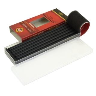 Стержни графитовые Gioconda Negro KOH-I-NOOR черные (ретушь), 5.6 мм, твердость HB, 6 шт.