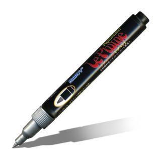 Пигментный маркер-металлик Marvy «Le Plume Pigmented» для рисования, 1-2мм, цвет-серебро