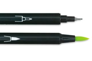 """Маркер MARVY """"Le Plume II"""" акварельный двусторонний кисть/линер 0.3мм"""