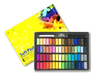 Пастель мягкая для детей и взрослых MUNGYO Soft Pastel Mini 1/2 длины, 64 цвета
