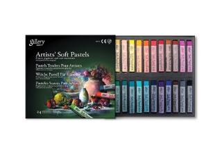 Сухая пастель для рисования мягкая квадратная MUNGYO Gallery Artists Soft 24 цвета