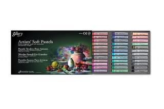 Сухая пастель для рисования мягкая квадратная MUNGYO Gallery Artists Soft 48 цветов