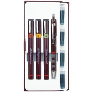 Набор изографов Rotring 0.1, 0.2, 0.3 мм, мех. карандаш 0.5 мм, чернила