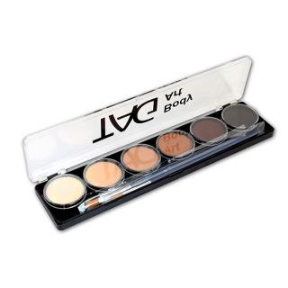 Набор профессиональных красок для аквагрима Тон кожи TAG, 6x10г, 2 кисти
