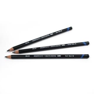 Водорастворимые графитные карандаши Derwent Sketching:  НВ,  4В, 8В