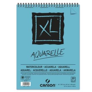 Альбом для акварели Canson Xl 300г/кв.м (целлюлоза) 29.7*42см 30листов Фин спираль по короткой стороне