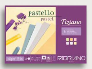 Альбом для пастели Fabriano Tiziano 160г/м.кв 21x29,7см 6 цветов 30л склейка по 1 стороне