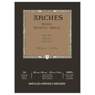 Блок для графики Arches Traditionnel 200г/кв.м 26*36см 16листов Среднее зерно склейка по 1 стороне