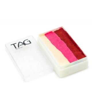 Профессиональный гипоаллергенный аквагрим Сплит-кейк TAG «Роза», 30г, 3 цвета
