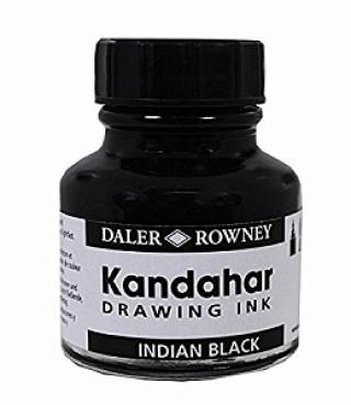 Тушь Kandahar Daler Rowney, 28 мл черная