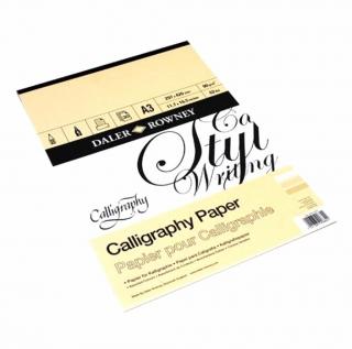 Альбом Daler Rowney Calligraphy Paper для каллиграфии, 90г/м2, 30 листов, формат А4, А3