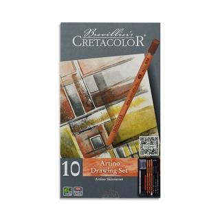 Художественный набор для рисования эскизов Artino Cretacolor, 10 предметов