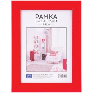 Рамка пластиковая 15*21см, OfficeSpace, №10/1, красный