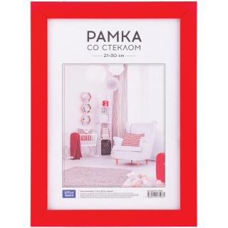 Рамка пластиковая 21*30см, OfficeSpace, №10/1, красный