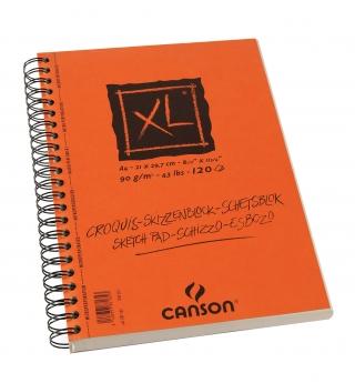 Альбом для графики Canson Xl 90г/кв.м 21*29.7см 120листов Слоновая кость спираль по длинной стороне
