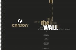 Альбом для маркера Canson The Wall 220г/кв.м 29.7х43.7см 30листов спираль по короткой стороне