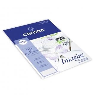 Папка с бумагой для графики Canson Imagine 200г/кв.м 29.7*42см мелкое зерно 10 листов