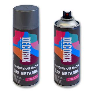 Аэрозольная краска для металла DECORIX 520 мл