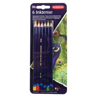 Набор акварельных чернильных карандашей Derwent Inktense 6 цветов