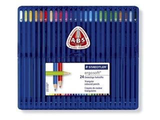 Набор цветных карандашей Ergosoft треугольные 24 цвета