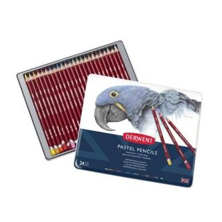 Набор пастельных карандашей Derwent Pastel 24 цвета, металлический пенал