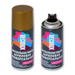 Аэрозольная эмаль акриловая DECORIX с эффектом металлик 210мл