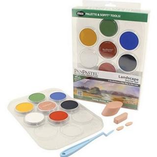 Набор ультрамягкой пастели PanPastel, 7 ландшафтных цветов и аксессуары