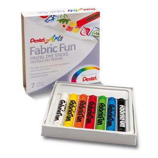 Пастель для рисования на ткани Pentel FabricFun Pastels 7 цветов