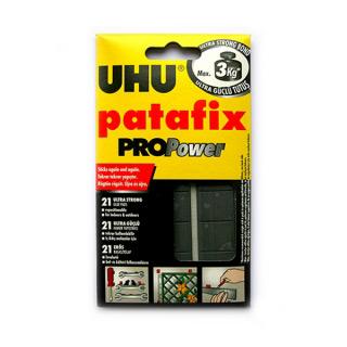 Сверхпрочные многоразовые клеящие подушечки UHU Patafix PROPower черные 21 шт