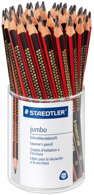 Дисплей трехгранных простых карандашей Jumbo 2B, пластиковый стакан