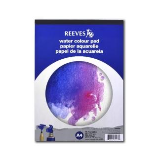 Бумага акварельная Reeves, 190г/м2, A4, альбом-склейка на твёрдой подложке, 12 л.