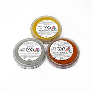 Профессиональный гипоаллергенный аквагрим TAG поштучно, золото, серебро, бронза, 32г