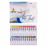 Акварельные краски «Белые ночи» НЕВСКАЯ ПАЛИТРА, набор 24 цвета в тубах по 10 мл