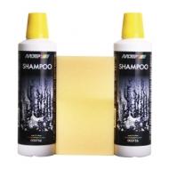 Автошампунь суперблеск Motip Car Care Shampoo, 1уп.х2шт.+ губка Motip Black Line 1