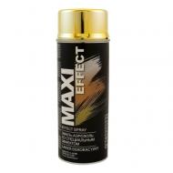 Эмаль-аэрозоль со специальным эффектом MAXI COLOR  0,4л, цвета: хром, золото, серебро