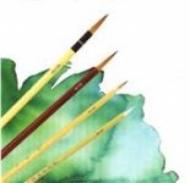 Кисть для батика №16, d 13.8, ласка, коническая, бамбук 64