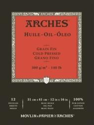 Альбом для масла Arches Huile 300г/кв.м 31*41см 12 листов, склейка