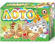 Игра настольная Лото, Русский стиль классическое, дерево, картонная коробка