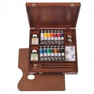 """Набор масляных красок """"Вдохновение"""" Inspiration Van Gogh Royal Talens, 14 цветов и аксессуары"""