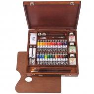 Художественный набор Expert Van Gogh Royal Talens, масляные краски 26 цветов, лак, кисти, мастихин и аксессуары