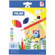 "Карандаши Milan ""211"", 18цв., заточен., картон, европодвес"
