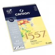Альбом для графики Canson 1557 Dessin Ja 180г/кв.м 29.7*42см 30листов Малое зерно спираль по короткой стороне
