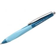 """Ручка шариковая автоматическая Schneider """"Haptify"""" синяя, 0,5мм, грип, бирюзовый корпус"""