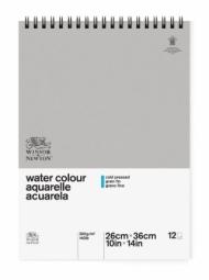 Альбом для акварели Winsor&Newton Classic 300г, 26*36см, 12л Фин, спираль