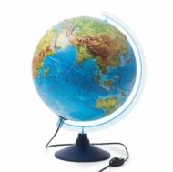 Глобус GLOBEN INT13200290 Интерактивный физико-политический с подсветкой рельефный, 32см