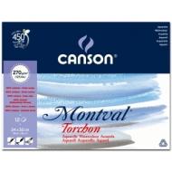 Альбом для акварели Canson Montval 270г/кв.м (целлюлоза) 24*32см 12листов Снежное зерно склейка по короткой стороне