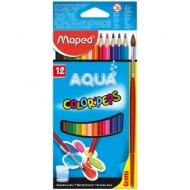 """Карандаши акварельные Maped """"Color Peps"""", 12цв., трехгран., заточен., картон, европодвес"""