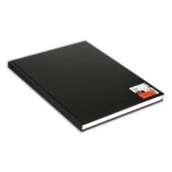Блокнот для зарисовок Canson One 100г/кв.м 29.7*35.6см 100листов твердая обложка черный