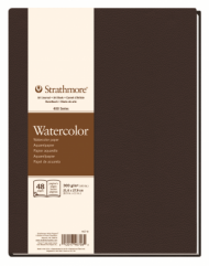 Блокнот для акварели Strathmore 400 Watercolor Art Journal 300г, 21,6х28см, 24л