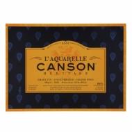 Блок для акварели Canson Heritage 300г/кв.м (хлопок) 36*51см 20листов Фин склейка по 4 сторонам